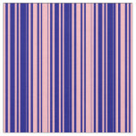 [ Thumbnail: Light Pink & Blue Colored Lined/Striped Pattern Fabric ]