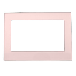 Light Pink Blush Photo Frame Magnets