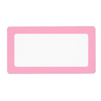 Light pink border blank personalized shipping label