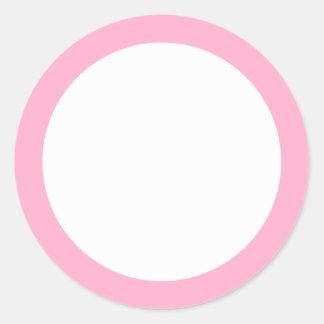 Light pink border blank sticker