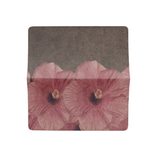Light Pink Brown Flowers II Checkbook Cover