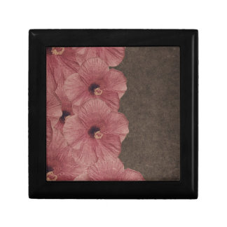 Light Pink Brown Flowers Jewelry Box