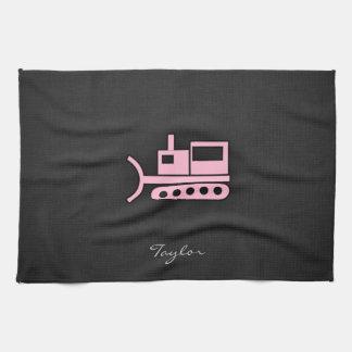 Light Pink Bulldozer Towel