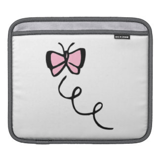 Light Pink Butterfly Sleeves For iPads