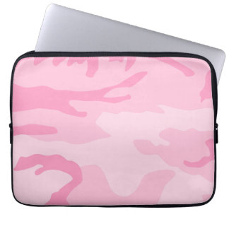 Light Pink Camouflage Pattern Computer Sleeve