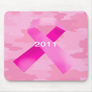 Light Pink Camouflage Pink Ribbon Date Mouse Pad