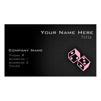 Light Pink Casino Dice Double-Sided Standard Business Cards (Pack Of 100)