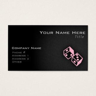 Light Pink Casino Dice Business Card