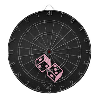 Light Pink Casino Dice Dartboard
