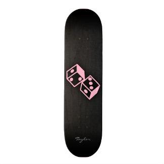 Light Pink Casino Dice Skateboard