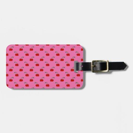 Light pink cherry pattern bag tag
