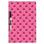 Light pink cherry pattern Dry-Erase whiteboard