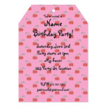Light pink cherry pattern 5x7 paper invitation card