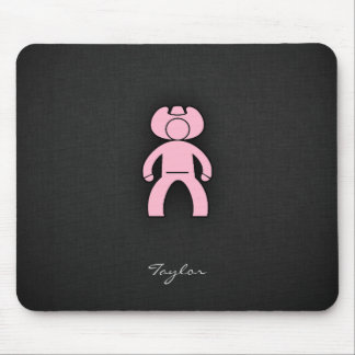 Light Pink Cowboy Mouse Pad