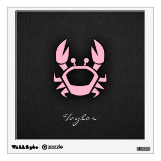 Light Pink Crab Wall Decal
