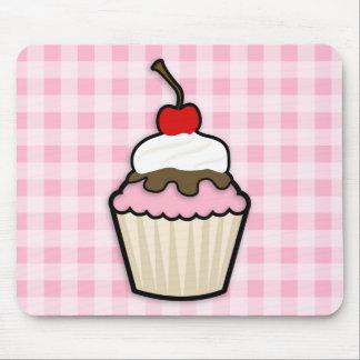 Light Pink Cupcake Mouse Pad