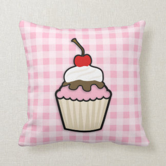Light Pink Cupcake Throw Pillow