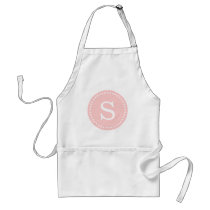 Light Pink Custom Monogram Adult Apron