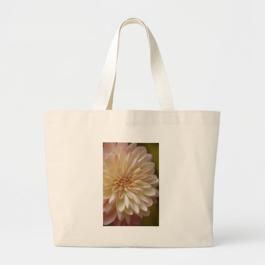 light pink dahlia large tote bag