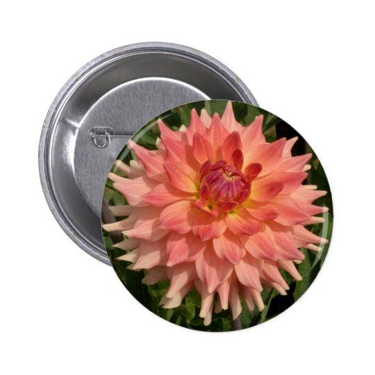 Light Pink Dahlia Petals Motif Button