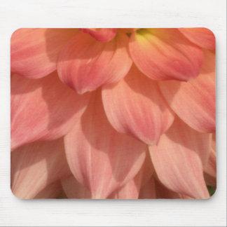 Light Pink Dahlia Petals Motif Mouse Pad