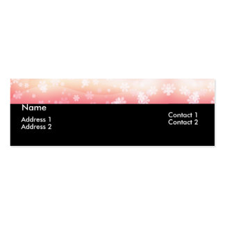 Light Pink Daisy Flower Topper Profile Cards Mini Business Card