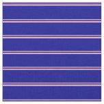 [ Thumbnail: Light Pink & Dark Blue Colored Pattern Fabric ]