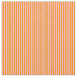 [ Thumbnail: Light Pink & Dark Orange Colored Lined Pattern Fabric ]