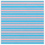 [ Thumbnail: Light Pink & Deep Sky Blue Lines/Stripes Pattern Fabric ]