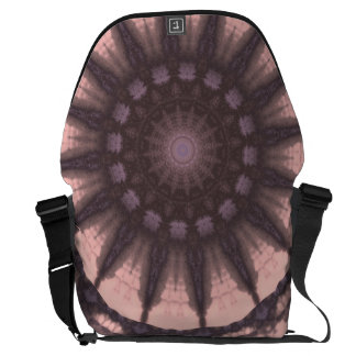 Light Pink Dharma Sky Wheel 1 B1 SDL Messenger Bag