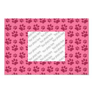 Light pink dog paw print pattern photo
