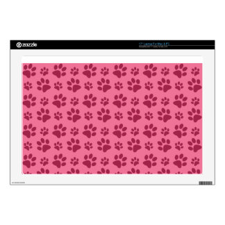Light pink dog paw print pattern decal for laptop