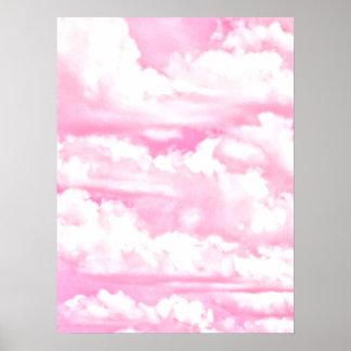 Light Pink Elegant Clouds Decor