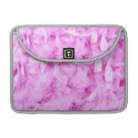 Light pink feathers macbook pro sleeve