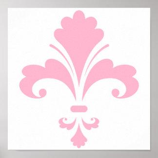 Light Pink Fleur-de-lis Poster