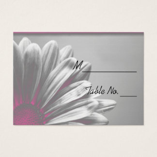 Light Pink Floral Highlights Wedding Place Card