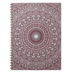 Light Pink Floral Mandala Notebook