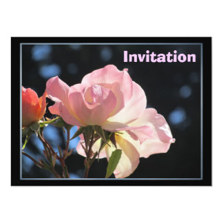 Light Pink Flower 6.5x8.75 Paper Invitation Card