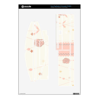 Light Pink Flowers and Eiffel Tower Decals For PS3