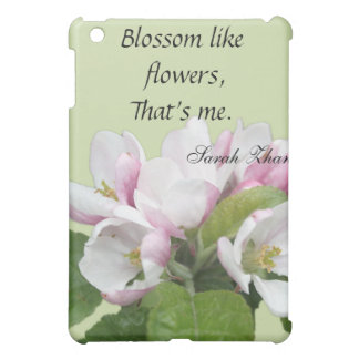 Light pink flowers in green background. case for the iPad mini