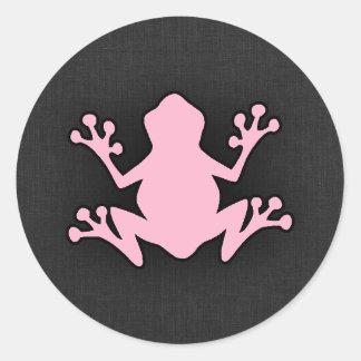Light Pink Frog Round Sticker