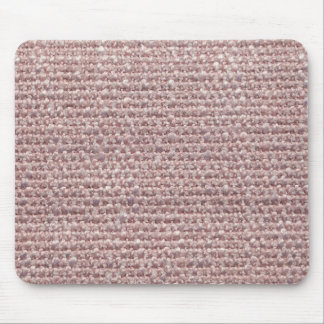 Light pink fur and light pink strings mouse pad