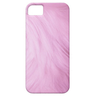 Light Pink Fur feathery image, iPhone 5 case