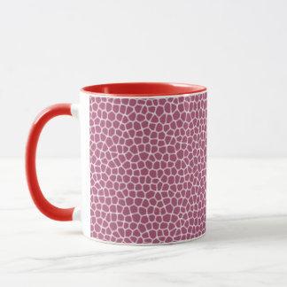 light pink giraffe skin mug