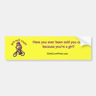 Light Pink Girls BMX Bumper Sticker