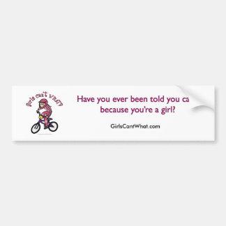 Light Pink Girls BMX Car Bumper Sticker