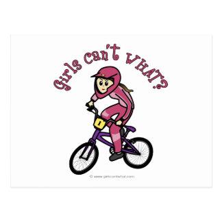 Light Pink Girls BMX Postcard