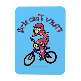 Light Pink Girls BMX Flexible Magnet