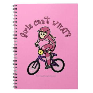 Light Pink Girls BMX Spiral Notebook