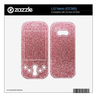 Light pink glitter LG neon skin